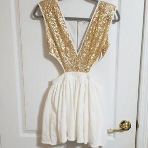 Xenia Boutique Dress Gold Sun Costume
